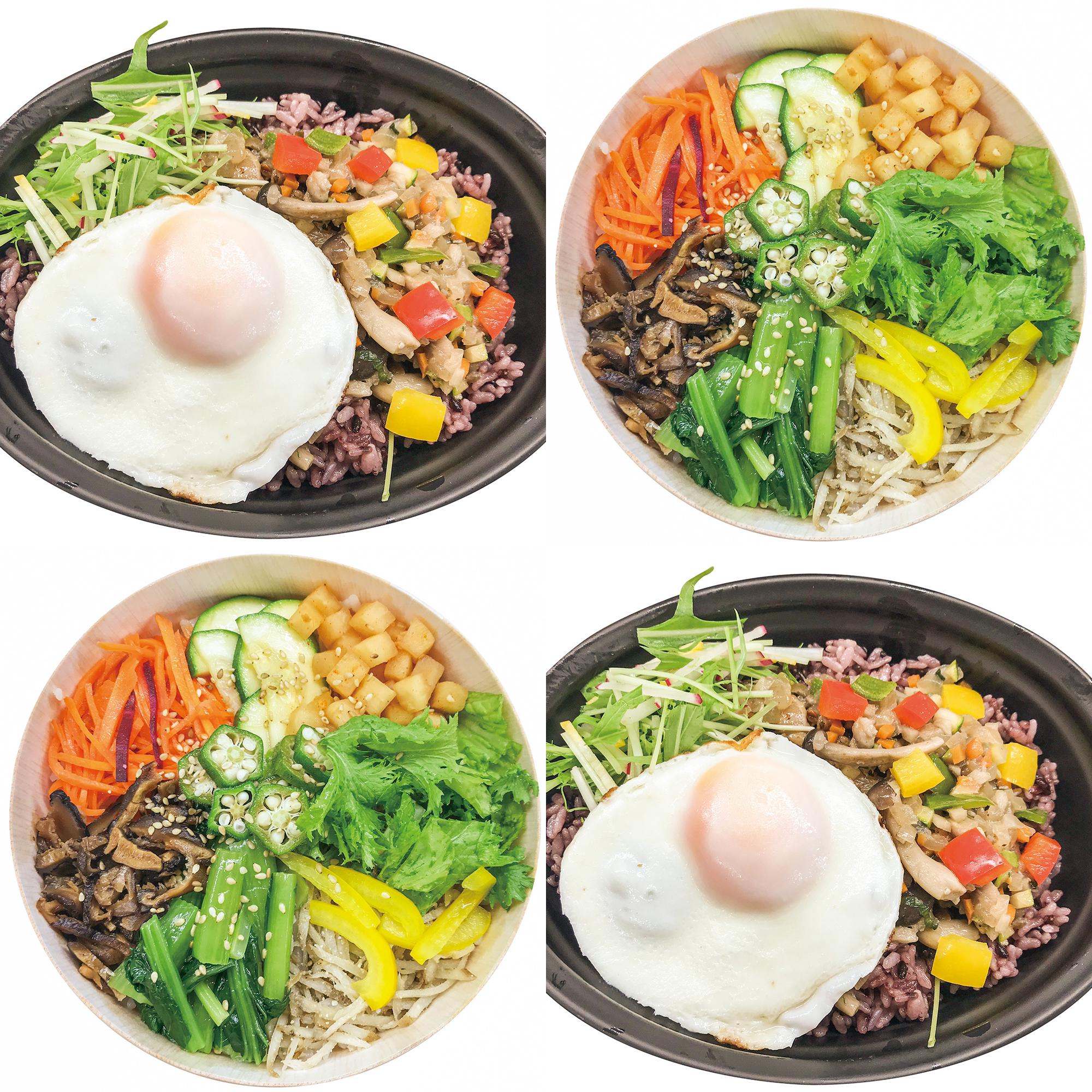 旅メシ「キンパ風ベジピビンパ」「たっぷり野菜のガパオライス」新登場!